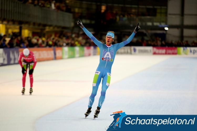 Jorrit Bergsma won de tweede halve finale en plaatste zich zo voor de finale zondag.