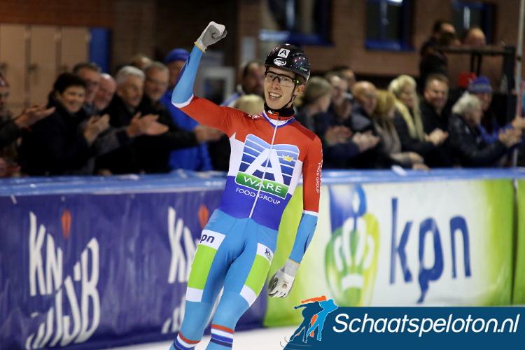 Jorrit Bergsma soleerde in Nagano naar de winst in de tweede iSU World Cup.