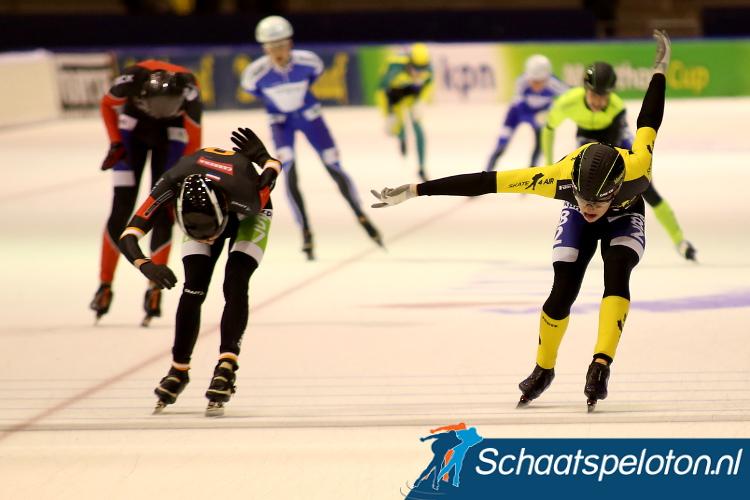 Simon Borsen klopte vorig seizoen Top Divisierijder Timo Verkaaik tijdens de Beloftenmarathon in Heerenveen, komende winter maakt hij zijn debuut op het hoogste niveau.
