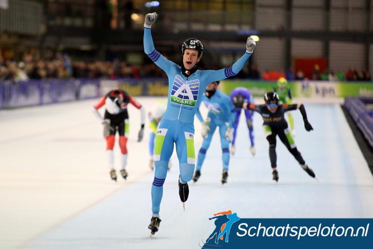 Bob de Vries won vorig seizoen de KPN Marathon Cup in Groningen.