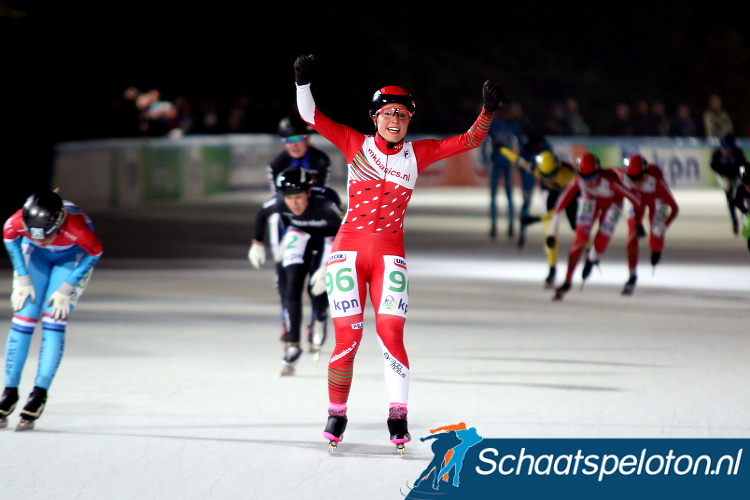 Francesca Lollobrigida was dit seizoen in de kleuren van MKBasics.nl goed voor tien overwinningen, maar volgend seizoen zal zij die kleuren niet meer verdedigen.