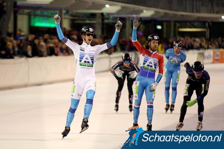 Wie speelt Royal A-ware uit als hun sprinter? Evert Hoolwerf (li.) of uittredend kampioen Arjan Stroetinga (re.)?