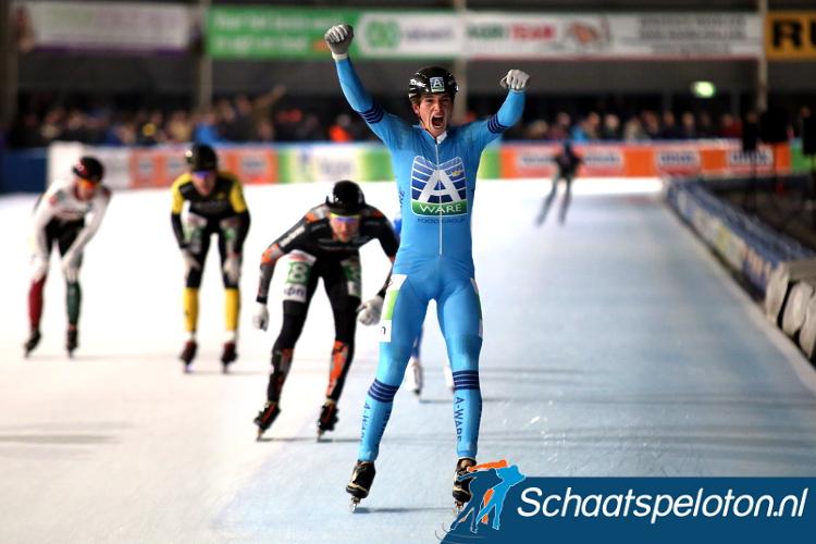Simon Schouten wint in Hoorn en brengt zijn thuispubliek in extase.