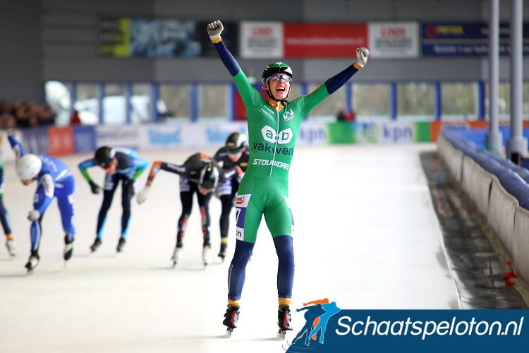 Remon Vos kon in Alkmaar de finalewedstrijd van de KPN Vierdaagse winnen.