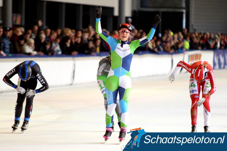 Francesca Lollobrigida was afgelopen Vierdaagse in Alkmaar de voorlopig laatste buitenlandse marathonschaatswinnaar.
