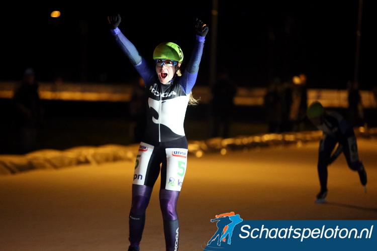 Daniëlle Bekkering pakte dit seizoen op Flevonice haar 63e overwinning op Nederlands kunstijs