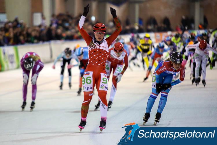 Francesca Lollobrigida won in Deventer haar tiende wedstrijd van het seizoen, zeven vrouwen gingen haar daarin voor.