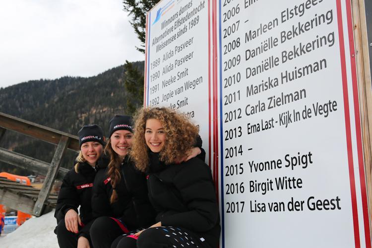 Iris van der Stelt, Merel Bosma en Alternatieve Elfstedenwinnares Lisa van der Geest komen ook volgend seizoen uit voor MKBasics.nl
