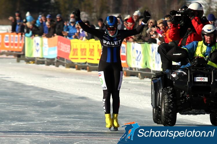 Ineke Dedden kan de Open Nederlandse titel bejubelen.