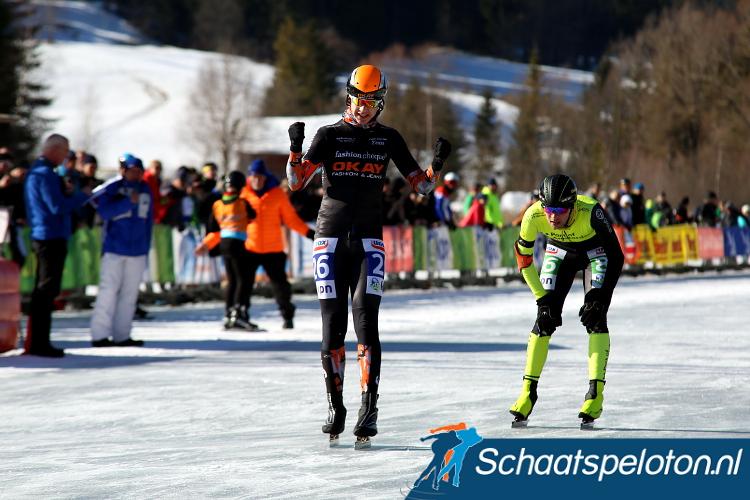 Bart Hoolwef weet Johan Hendriks in de sprint te kloppen en prolongeert zijn Open Oostenrijkse titel.