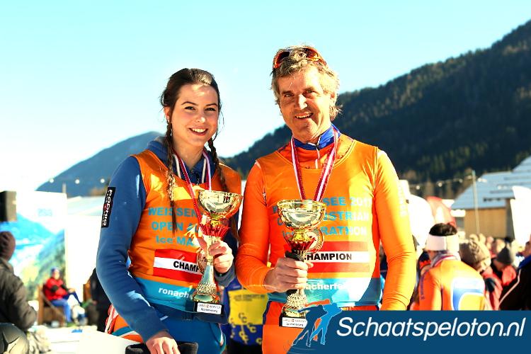 Anne Lene Müller en Hans Unterberger zijn de nieuwe Oostenrijks Kampioenen marathonschaatsen.