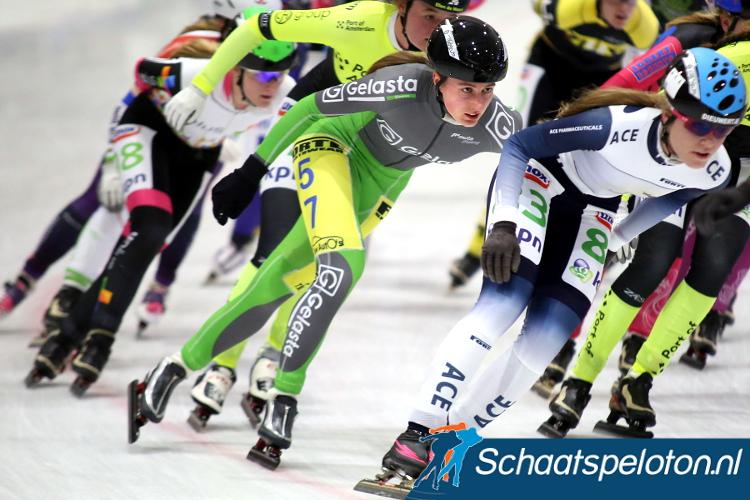 Aveline Hijlkema kwam dit seizoen met een 24e plaats tijdens de tweede dag van de KPN Vierdaagse tot de beste prestatie van de vier.