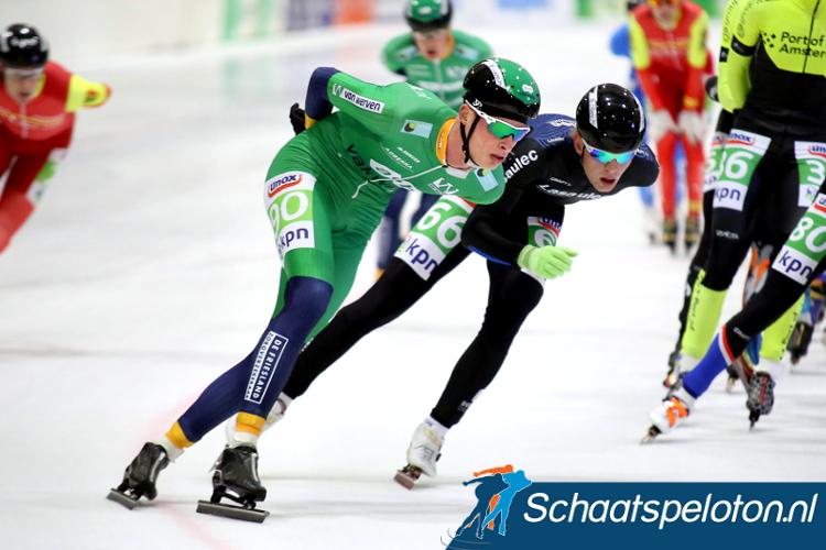 Christiaan Hoekstra (AB Vakwerk) heeft woensdag bij een val op Flevonice zijn sleutelbeen gebroken.