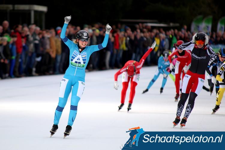 Irene Schouten won vorig jaar de eerste marathon op natuurijs in Haaksbergen, kan ze in Noordlaren op herhaling gaan?