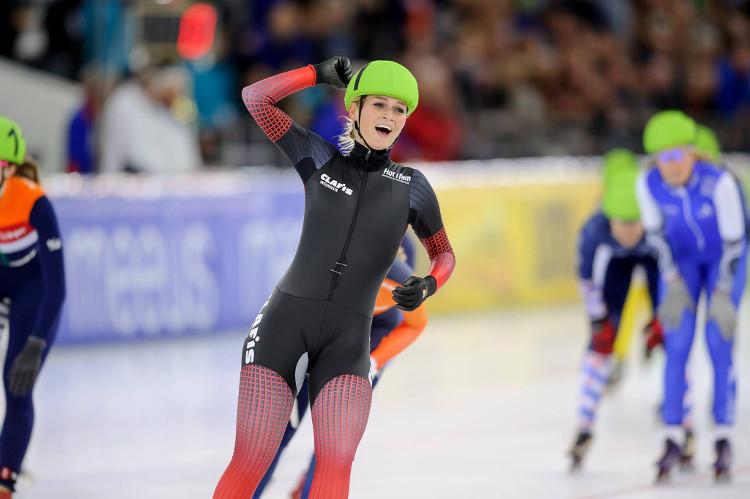 Irene Schouten won haar vijfde Nederlands Kampioenschap mass-start.