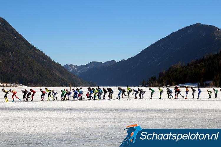 Waar zaterdag het peloton nog moest keren tijdens het Open NK zal het woensdag door kunnen rijden tot aan het ver gelegen Dolomitenblick.
