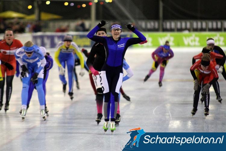 Liesbeth Milatz won in 2013/2014 als laatste rijdster uit het 6-Banentoernooi de Regiotopcompetitie.