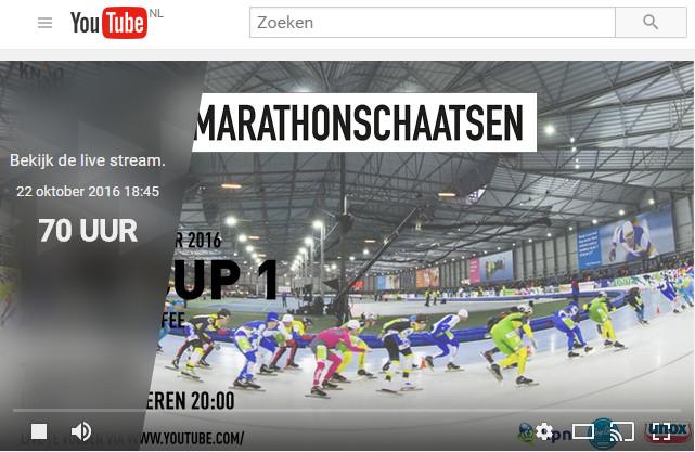 De livestream van de eerste KPN Marathon Cup staat al klaar op Schaatsen.nl
